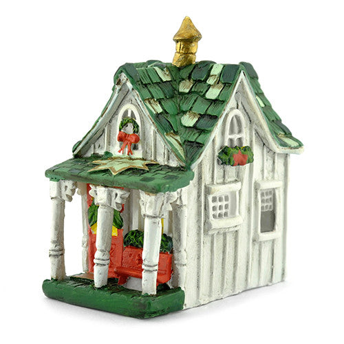 Christmas Miniature Winter Village Cottage: Fairy Garden Holiday Theme - Baby Feathers Gift Shop