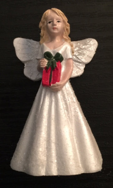 Christmas Angel Mini Fairy: Fairy Garden Holiday Theme - Baby Feathers Gift Shop