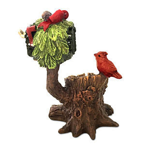 Winter Village Holiday Miniature Fairy Mail Box: Fairy Garden Holiday Theme - Baby Feathers Gift Shop