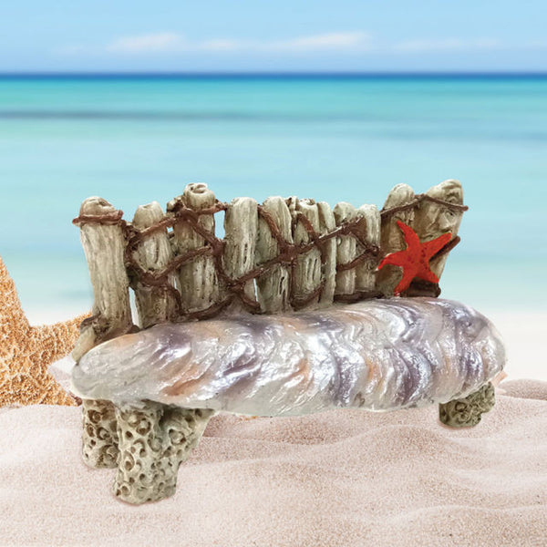 Mermaids Bench Beach Miniature: Fary Garden Furniture - Baby Feathers Gift Shop