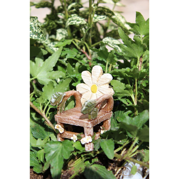 Flower Bloom Chair Fairy Garden Furniture Miniature - Baby Feathers Gift Shop
