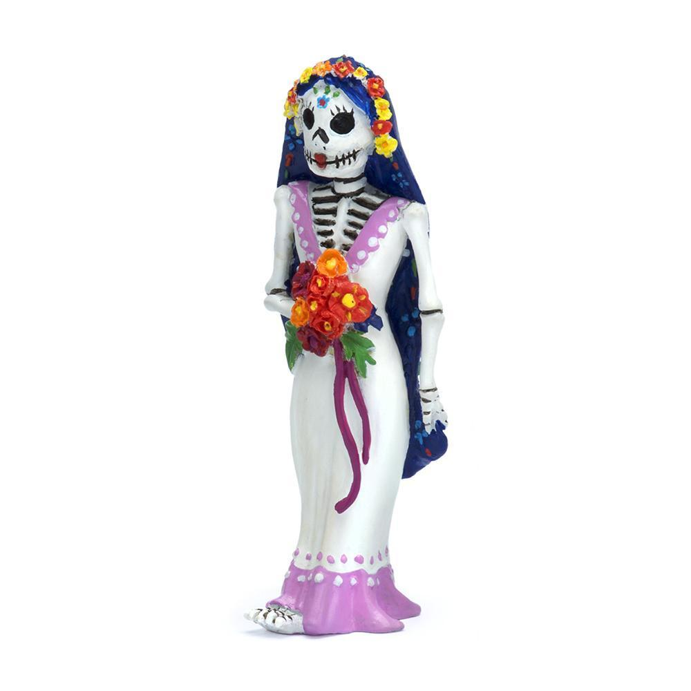 Day of the Dead Bride Catrina Miniature Halloween Dollhouse: Fall Fairy Garden Holiday Theme - Baby Feathers Gift Shop