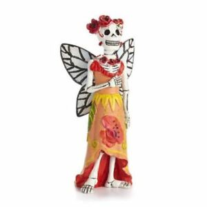 Day of the Dead Poppy Fairy Catrina Miniature Halloween Dollhouse: Fall Fairy Garden Holiday Theme - Baby Feathers Gift Shop