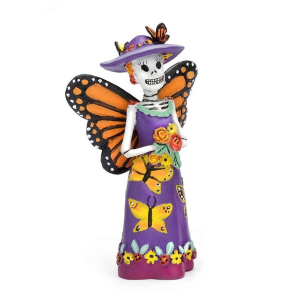 Day of the Dead Butterfly Fairy Catrina Miniature Halloween Dollhouse: Fall Fairy Garden Holiday Theme - Baby Feathers Gift Shop