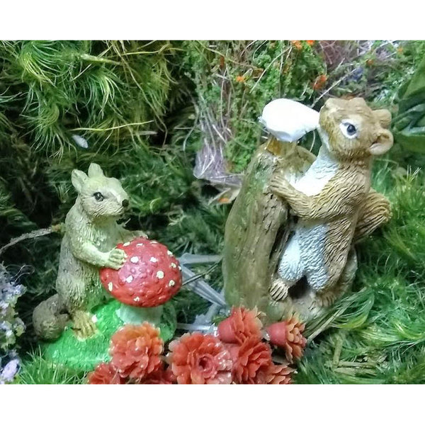 A Little Squirrely Animal Miniature Barnyard: Fairy Garden Miniatures