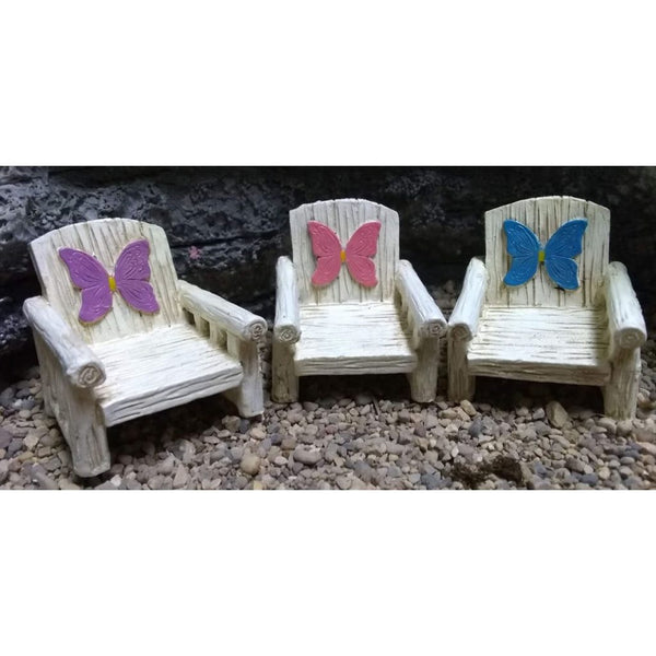 Fairy Wings Chair (3 Colors) Fairy Garden Miniature Furniture - Baby Feathers Gift Shop