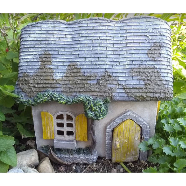 Country Fairy House Chalet with Hinged Door Barnyard Cottage Fairy Garden Miniature - Baby Feathers Gift Shop