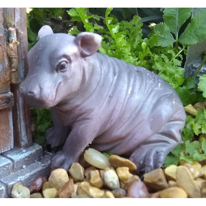 Harriet the Hippo Animal Miniature: Fairy Garden Miniatures