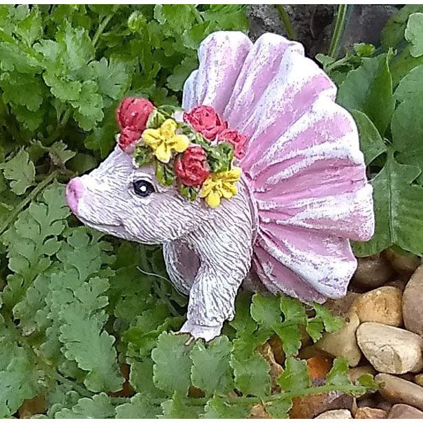 Percy the Pig Animal Miniature Barnyard: Fairy Garden Miniatures - Baby Feathers Gift Shop