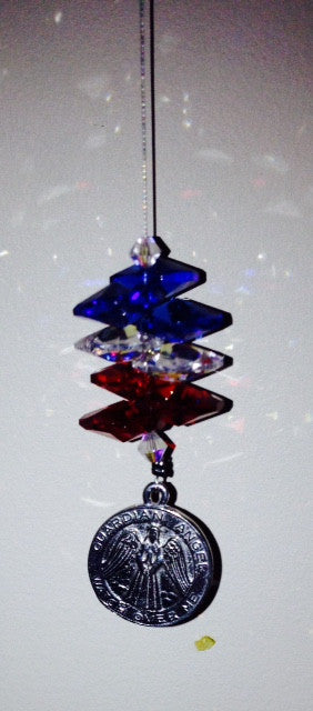 Watch Over Me Guardian Angel Crystal Suncatcher - Baby Feathers