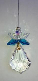 38mm crystal starburst Angel - Baby Feathers