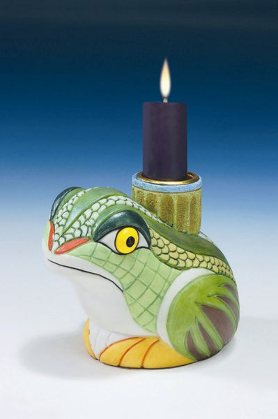 Frog Candle Holder - Baby Feathers Gift Shop