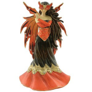 Mask of Autumn Fairy Trinket Box by Designed by Jessica Galbreth - Baby Feathers Gift Shop