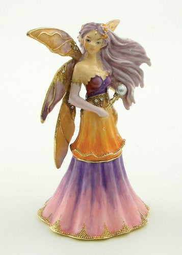 ENCHANTED MOON Fairy Jeweled Trinket Box from Jessica Galbreth - Baby Feathers Gift Shop