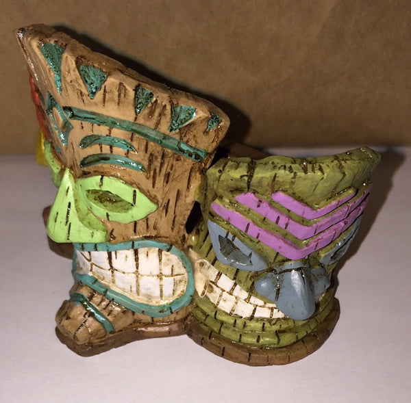 Tiki Mask Planter/Candle Holder Backyard Beach Miniature - Baby Feathers Gift Shop
