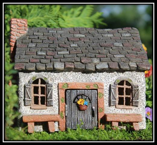 Sweet Meadows Fairy Cottage with hinged door: Fairy Garden Miniature House - Baby Feathers Gift Shop