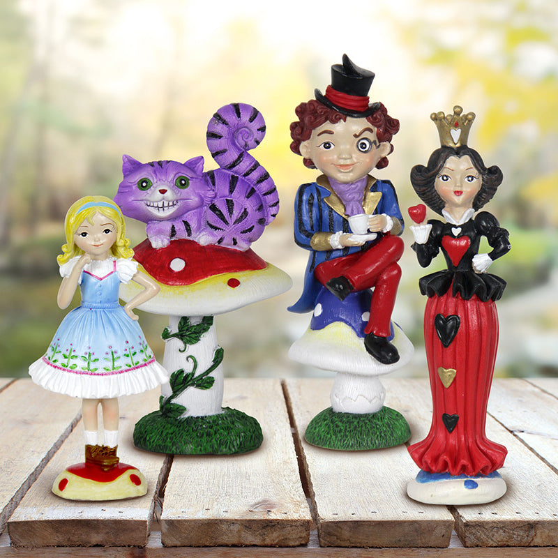 Alice in Wonderland Mini Fairy Gardening Miniature Set