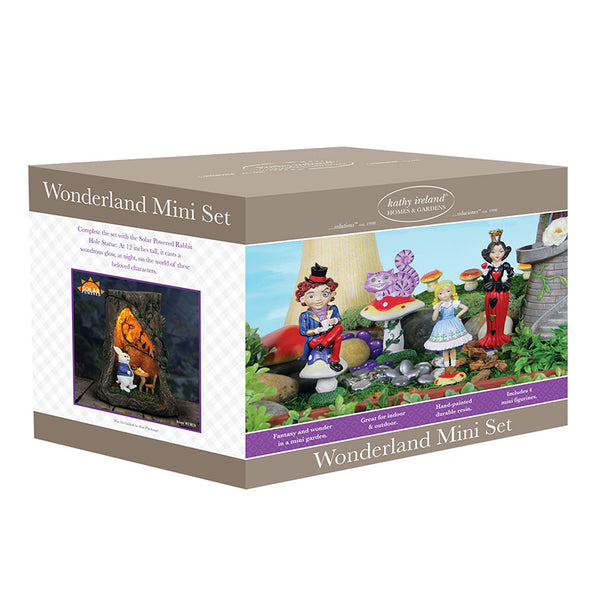 Alice in Wonderland Mini Fairy Gardening Miniature Set - Baby Feathers Gift Shop
