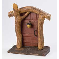 Red York Acorn Fairy Door: Fairy Garden Landscaping Miniature Door