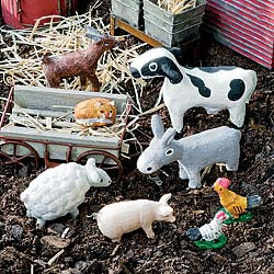 Barnyard Friends Animal Set Miniatures - Baby Feathers Gift Shop