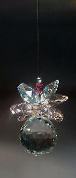 20mm hanging Crystal Ball - Pineapple - Baby Feathers Gift Shop