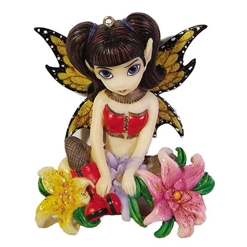 Fishnets & Flowers Fairy Ornament By Jasmine Becket Griffith Strangelings - Baby Feathers
