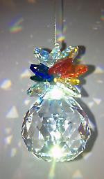 40mm crystal ball with pineapple cluster - Baby Feathers Gift Shop
