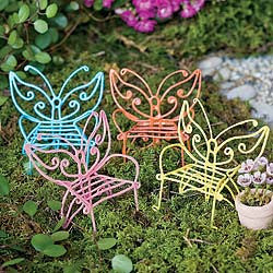 Butterfly Chairs Fairy Garden Miniature Furniture - Baby Feathers Gift Shop
