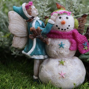 Aubrey's First Snowman Mini Fairy: Fairy Garden Holiday Theme - Baby Feathers Gift Shop