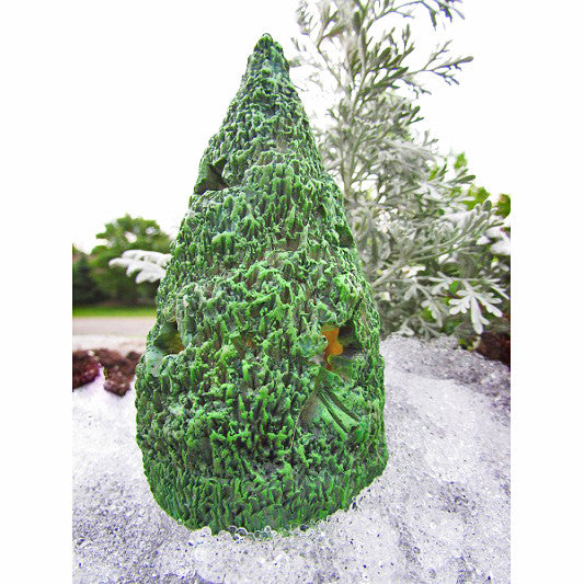 Lighted Miniature Christmas Tree: Fairy Garden Holiday Theme - Baby Feathers Gift Shop