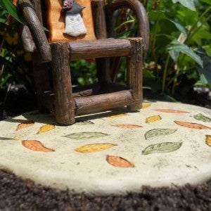 Fall Leaf Backyard Landscape Patio Pad: Fairy Garden Holiday Theme - Baby Feathers Gift Shop