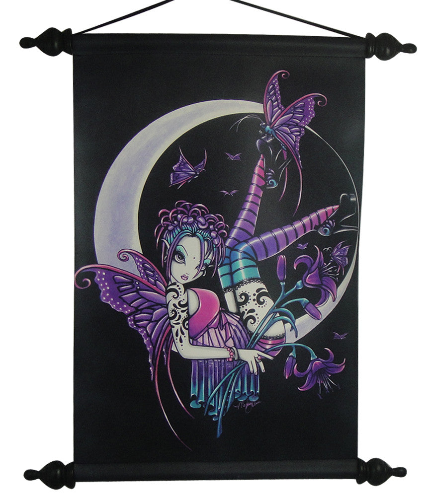 Myka Jelina Art Wall Scroll: Paige Gothic Rock Fairy - Baby Feathers Gift Shop