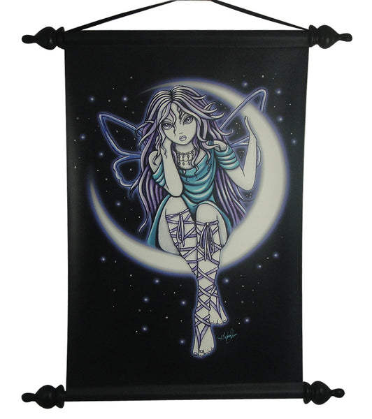 Myka Jelina Art Wall Scroll: Venus Moon Gothic Fairy - Baby Feathers Gift Shop
