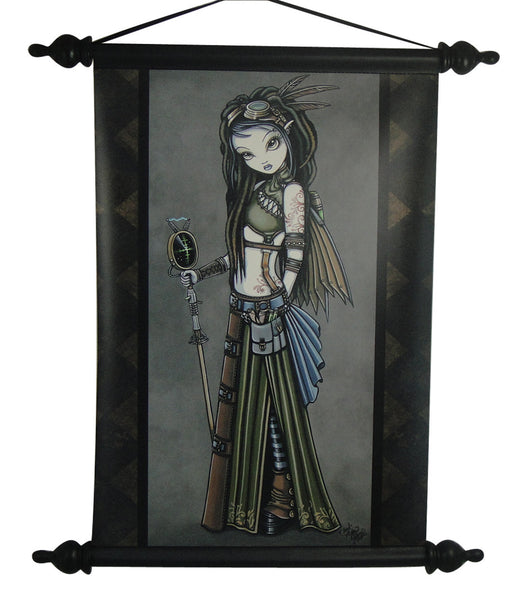 Myka Jelina Art Wall Scroll: Cloudburst Fairy - Baby Feathers Gift Shop