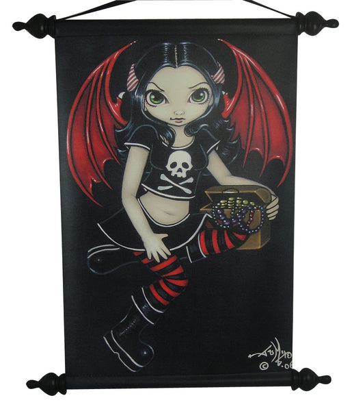 Jasmine Becket Griffith Strangeling Pirate Fairy Wall Scroll - Baby Feathers Gift Shop