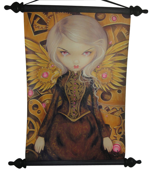 Jasmine Becket Griffith Strangeling Print Mechanical Angel ll Wall Scroll - Baby Feathers Gift Shop