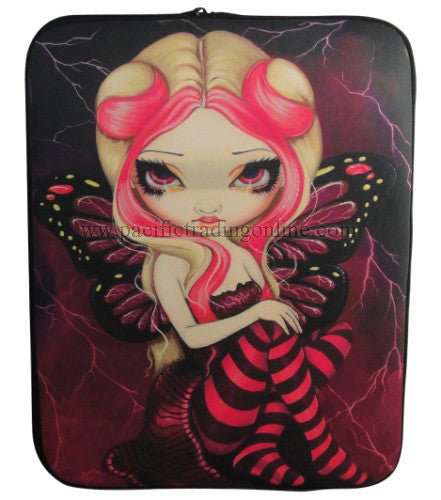 Pink Lightning Strangeling iPad Cover Jasmine Becket Griffith iPad Sleeve Cover - Baby Feathers Gift Shop