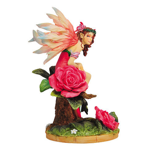 Morning Rose Fairy Linda Ravenscroft Fairy Butterfly Collection Figurine - Baby Feathers Gift Shop