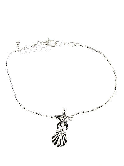 Sea Shell & Starfish Chain Anklet Bracelet - Baby Feathers Gift Shop