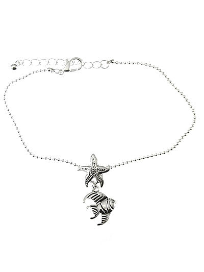 Tropical Fish Angel & Starfish Chain Anklet Bracelet - Baby Feathers Gift Shop