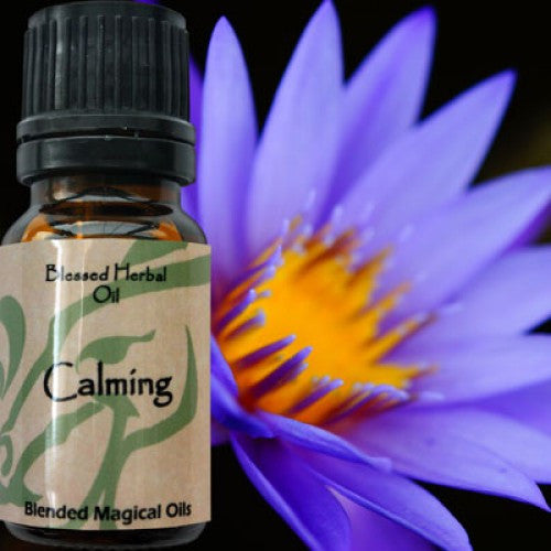 Calming Blessed Herbal Oil: Essential Oil Cedar, Sage, Jasmine - Baby Feathers Gift Shop
