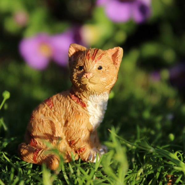 Buttercup the Kitten: Fairy Garden Animal Miniature - Baby Feathers Gift Shop