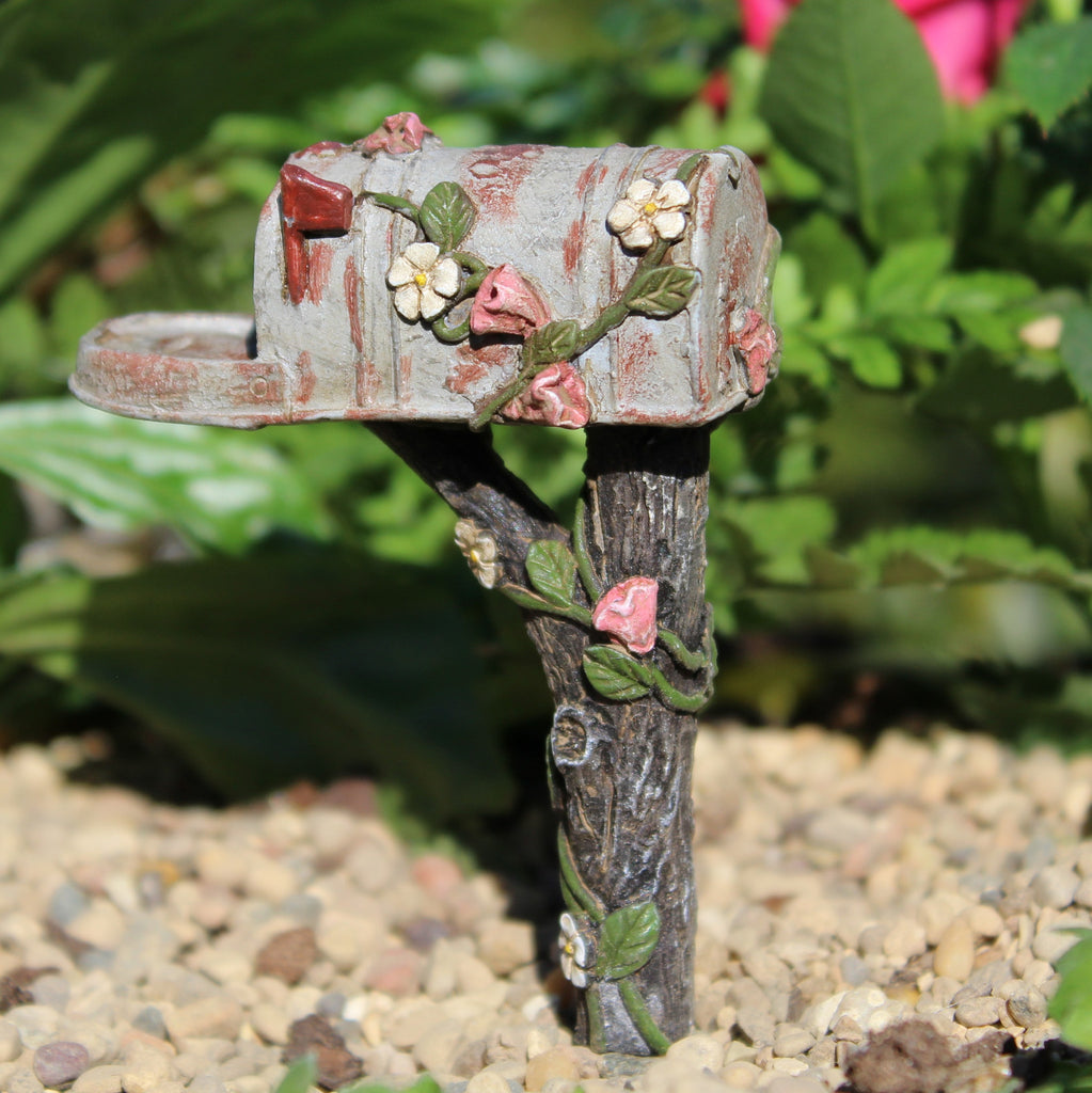 Country Mailbox Fairy Garden Miniature Accessories - Baby Feathers Gift Shop