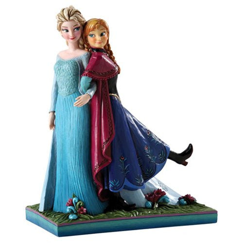 Anna and Elsa Resin Statue: Frozen Disney Traditions Sisters Forever - Baby Feathers Gift Shop