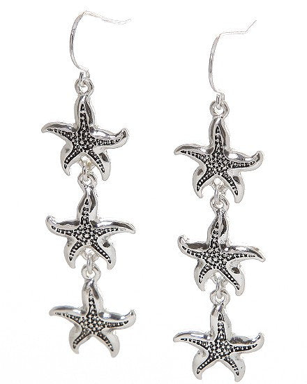 Starfish Drop Earrings - Baby Feathers Gift Shop
