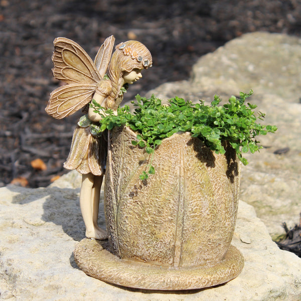 Fairy Flower Planter: Fairy Garden Planter - Baby Feathers Gift Shop