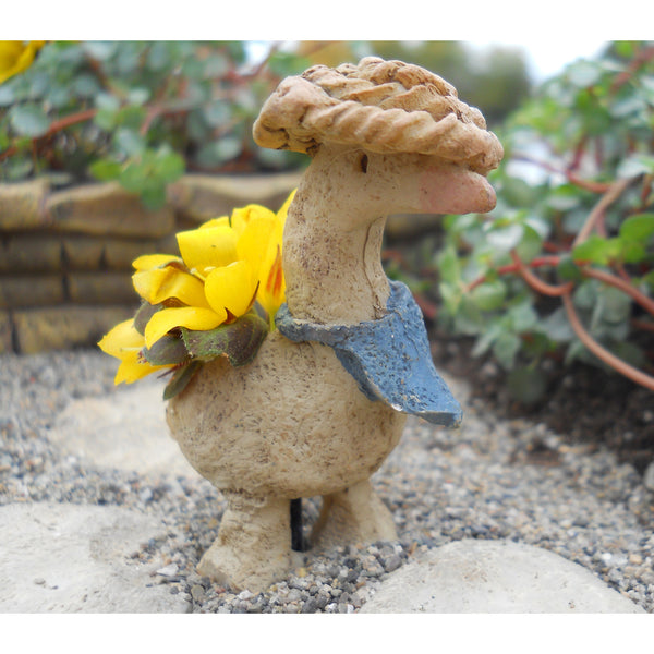 Goose Planter Fairy Garden Animal Miniature Accessories - Baby Feathers Gift Shop