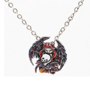 Skull Stealer Necklace Jasmine Becket-Griffith Strangeling Fearie Pendant - Baby Feathers Gift Shop