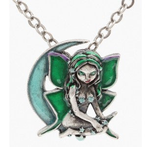 Luna Fairy Necklace Jasmine Becket-Griffith Strangeling Fearie Pendant - Baby Feathers Gift Shop