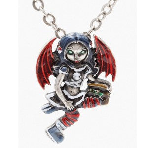 Pirate Fairy Necklace Jasmine Becket-Griffith Strangeling Fearie Pendant - Baby Feathers Gift Shop
